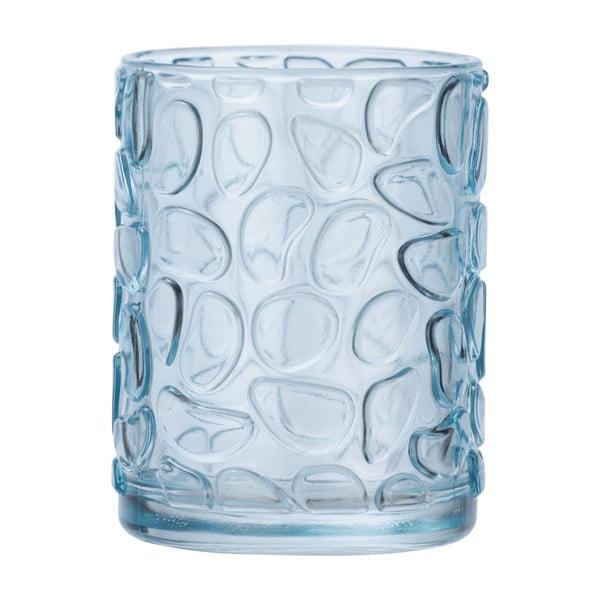 Suport sticlă pentru periuțe de dinți Wenko Vetro Foglia, albastru deschis