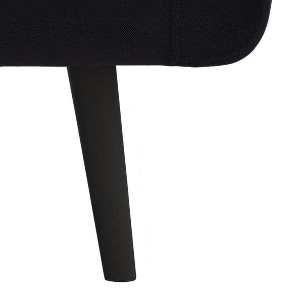 Tmavě šedé křeslo Vivonita Sondero, černé nohy