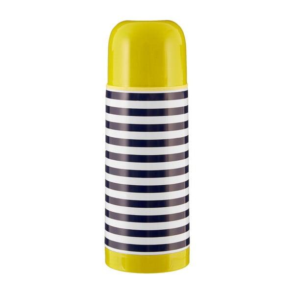 Sticlă termos cu capac verde Premier Housewares Mimo, 350 ml, alb - albastru