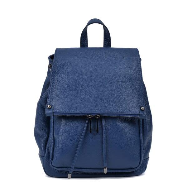 Modrý kožený batoh Roberta M Aida