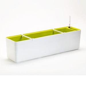 Bílo-zelený samozavlažovací truhlík Plastia Berberis , délka78 cm