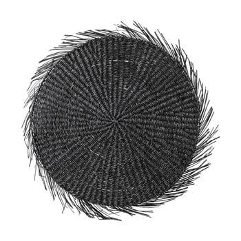 Suport din iarbă de mare pentru farfurie Bloomingville, negru