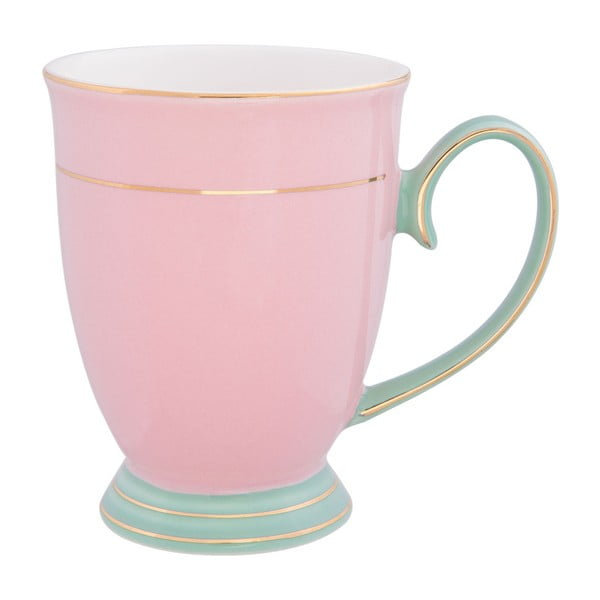 Růžový porcelánový hrnek Clayre&Eef Annie, 250ml