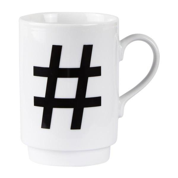 Porcelánový písmenkový hrnek KJ Collection Hashtag