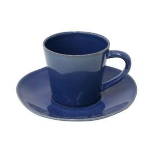 Modrý kameninový šálek na čaj s podšálkem Costa Nova Denim, 190ml