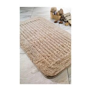 Koupelnová předložka Cotton Stripe Beige, 60x100 cm