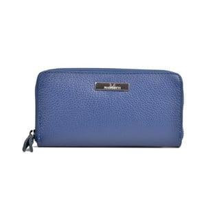 Modrá kožená peněženka Mangotti Bags Flora