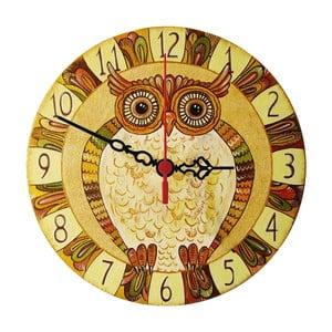 Nástěnné hodiny Natural Owl, 30 cm