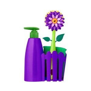 Set ke dřezu s dávkovačem Flower Power, fialový