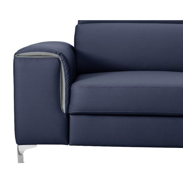Modrá pohovka Modernist Serafino, levý roh