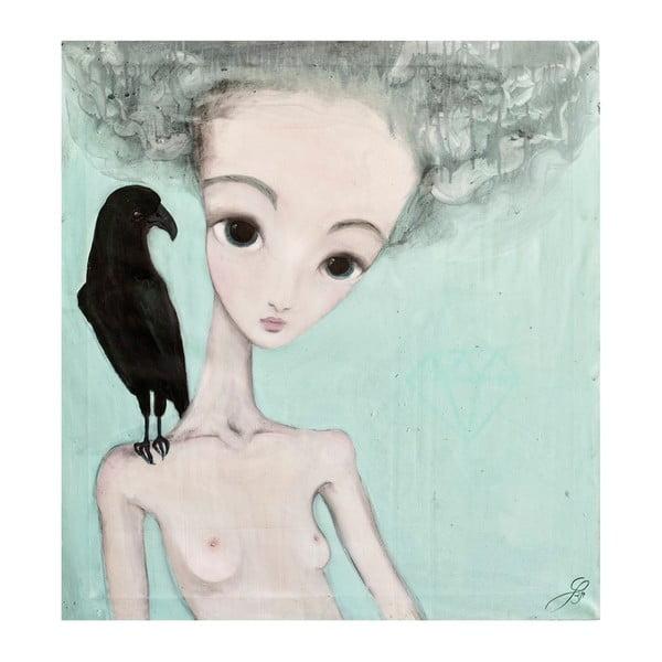 Autorský plakát od Lény Brauner Na vážkách, 60x64cm