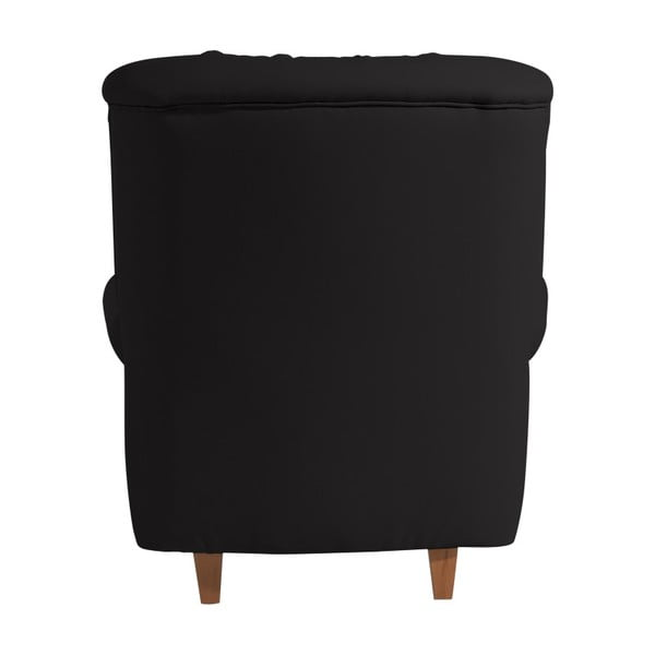 Černé křeslo Max Winzer Recliner Vicky Leather Black