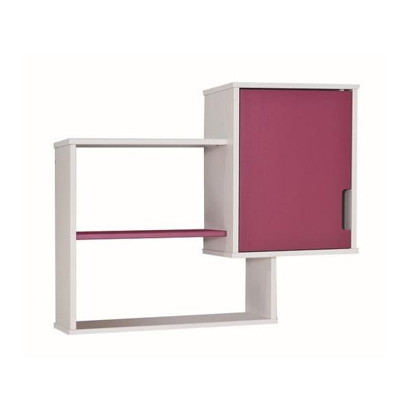 Růžovo-bílá nástěnná knihovna 13Casa UP