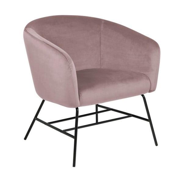Pudrowe tapicerowane krzesło Actona Ramsey