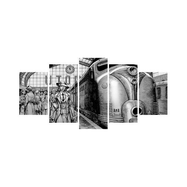 Vícedílný obraz Black&White no. 3, 100x50 cm