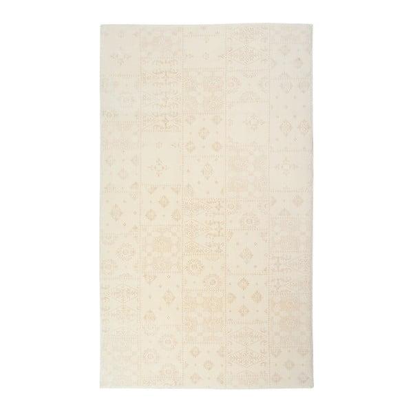 Krémový koberec Mosaic, 80 x 300 cm
