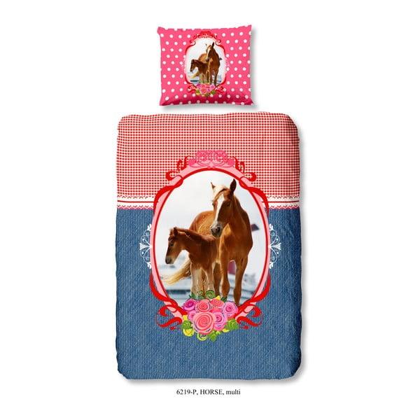 Dětské povlečení na jednolůžko z čisté bavlny Muller Textiels horse Dollie, 140 x 200 cm