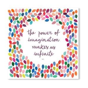 Plakát Americanflat Infinite Imagination, 30 x 30 cm