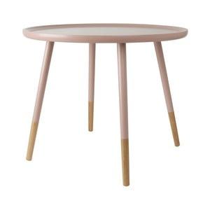Růžový dřevěný příruční stolek Leitmotiv Graceful