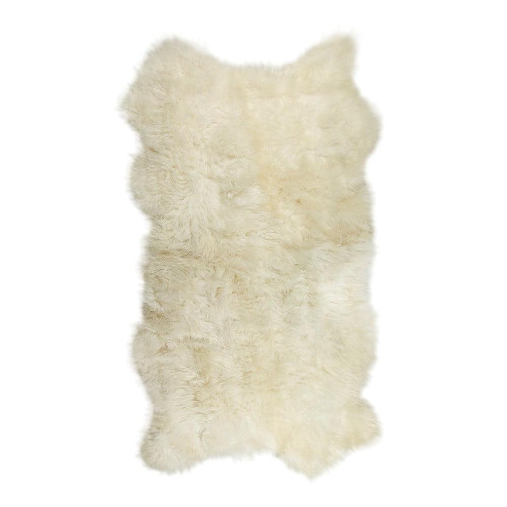 Bílý kožešinový koberec Lungo, 100 x 200 cm