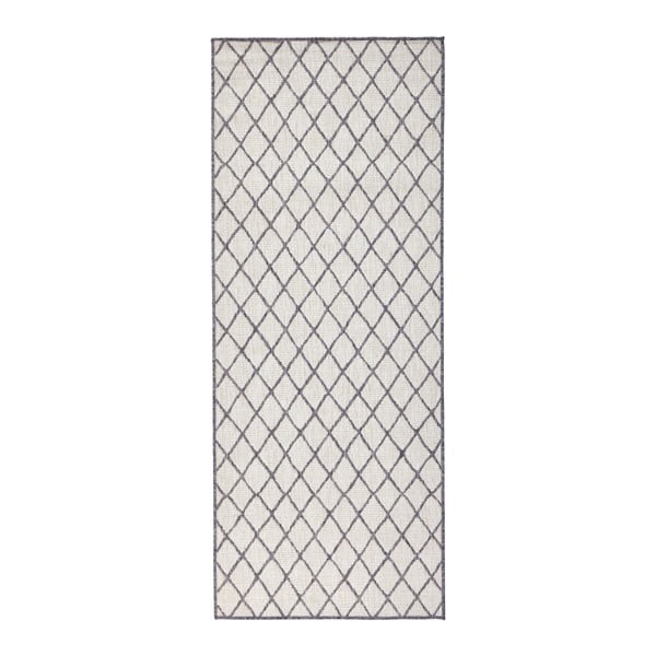 Sivý vzorovaný obojstranný koberec Bougari Malaga, 80 x 150 cm