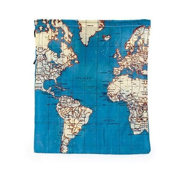 Sada 4 cestovných tašiek Kikkerland Maps