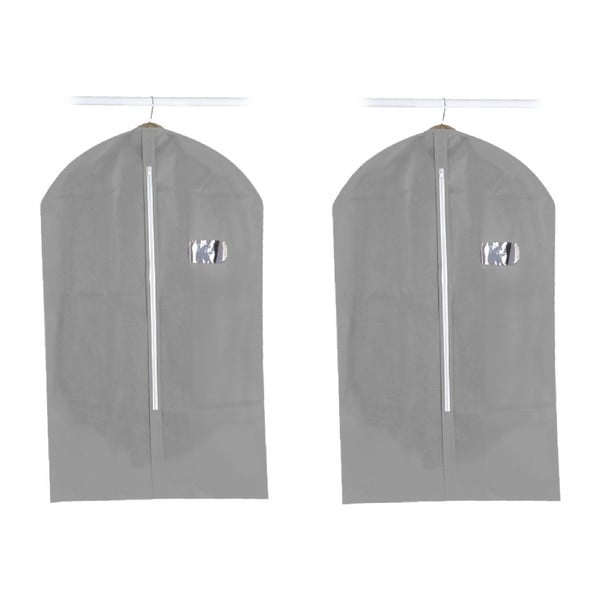 Set 2 obalů na oblek Suit Cover Grey