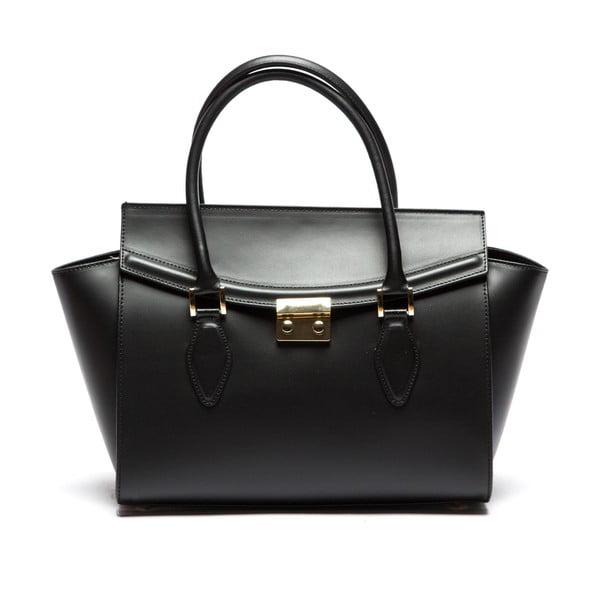 Černá kožená kabelka Sofia Cardoni Riccarda