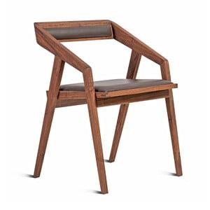 Židle z masivního ořechového dřeva Charlie Pommier Serious