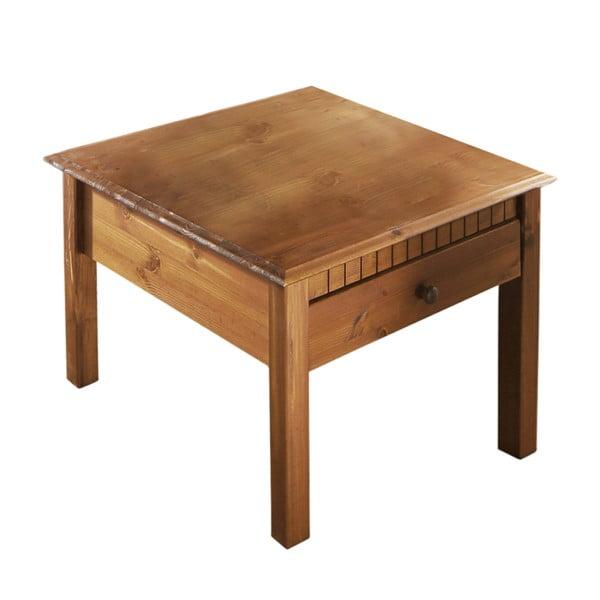 Brązowy stolik z litego drewna sosnowego Støraa Linda