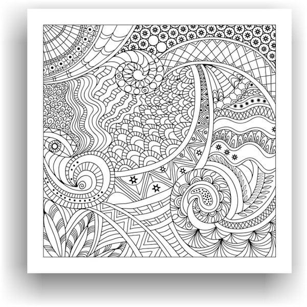 Obraz k vymalování Color It no. 37, 50x50 cm