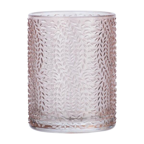 Suport sticlă pentru periuțe de dinți Wenko Vetro, roz deschis
