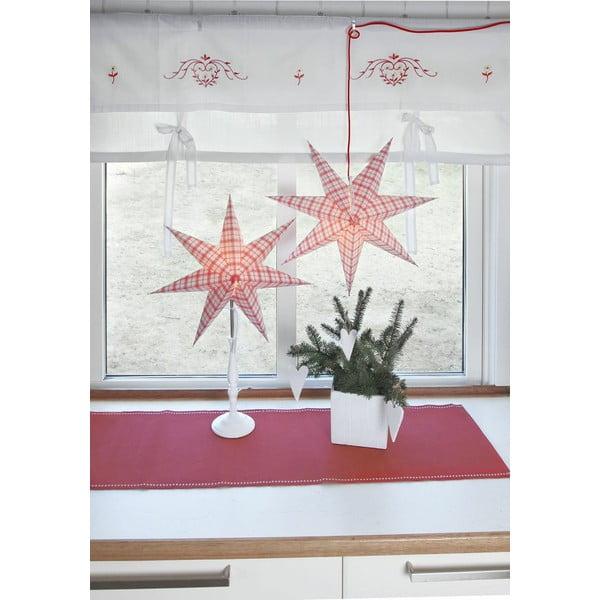 Závěsná svítící hvězda Bobo Red, 34 cm