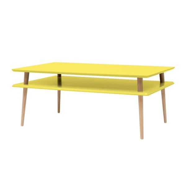 Žltý konferenčný stolík Ragaba KORO