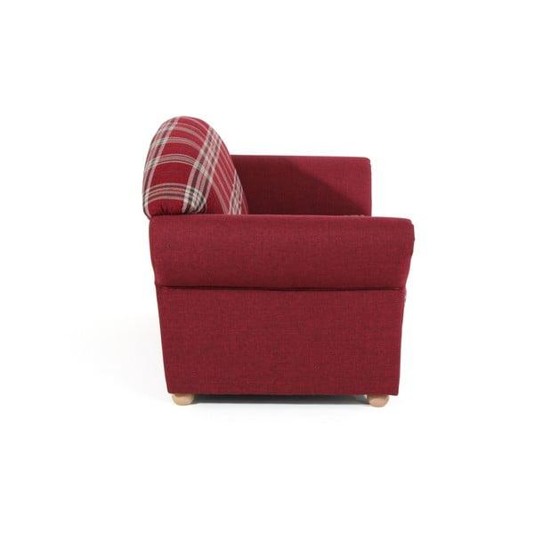 Červená kostkovaná dvoumístná pohovka Max Winzer Corona