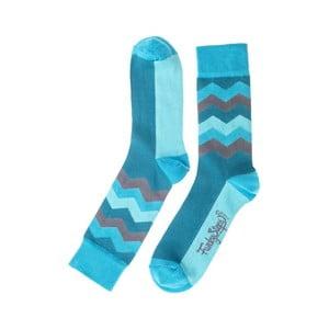 Modré ponožky Funky Steps Wave, velikost 39 – 45