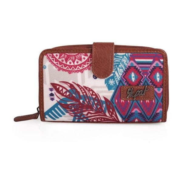 Růžovo-modrá peněženka SKPA-T, 16 x 9 cm