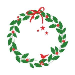 Balení 10 papírových ubrousků s vánočním motivem PPD Xmas Wreath