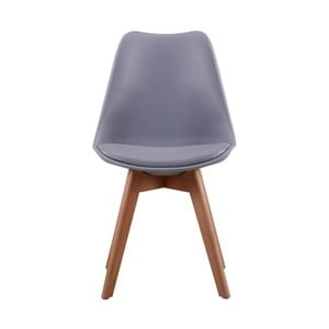 Šedomodrá židle s nohami z bukového dřeva Andromeda