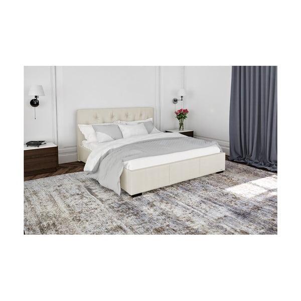Krémově bílá dvoulůžková postel s úložným prostorem Guy Laroche Home Fantasy, 140x200cm