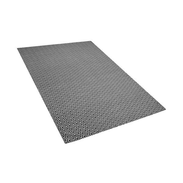 Černo-bílý venkovní koberec Monobeli Turga, 160 x 230 cm
