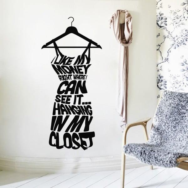 Dekorativní samolepka Dress on Hanger, 57x26 cm