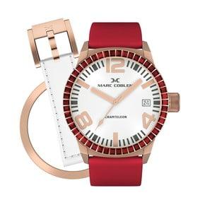 Dámské hodinky Marc Coblen s páskem a kroužkem navíc P87