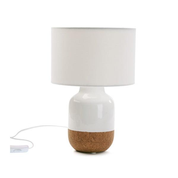 Bílá porcelánová stolní lampa Versa Moderna