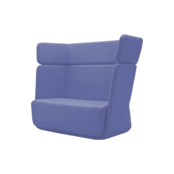 Niebiesko-fioletowy fotel Softline Basket Valencia Levandel