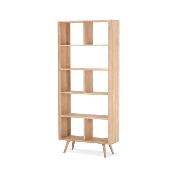 Bibliotecă din lemn de stejar Gazzda Ena, 90x35x200cm