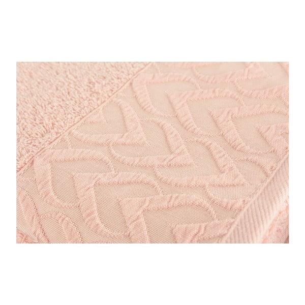 Sada 2 osušek Kalp Pink, 50x90 cm