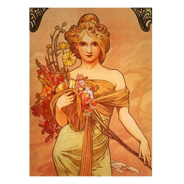 Obraz Bouquet od Alfonse Muchy, 40x55 cm