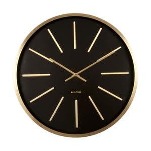 Černé hodiny Present Time Maxiemus Brass