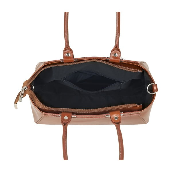 Kožená kabelka Strict Italia, medová